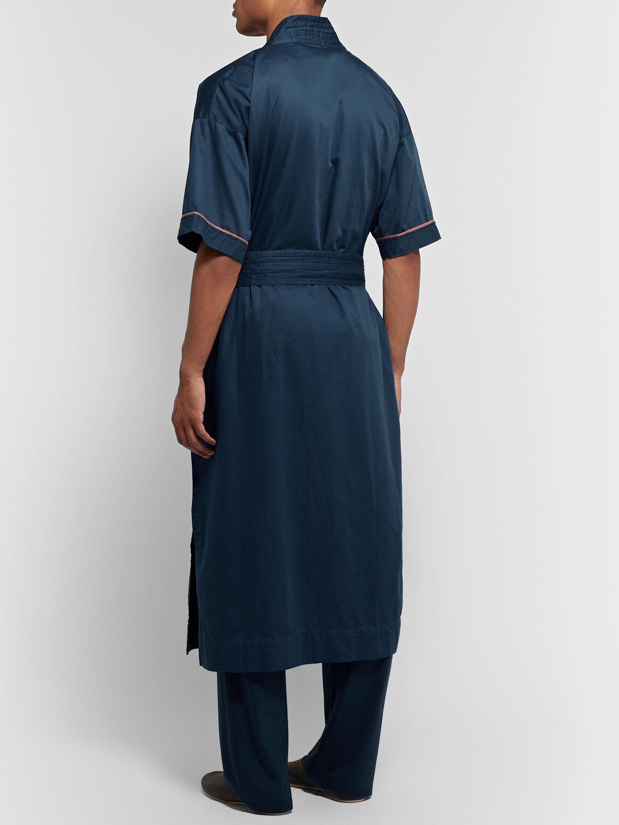 Cleverly Laundry Piped Washed Cotton-Robe