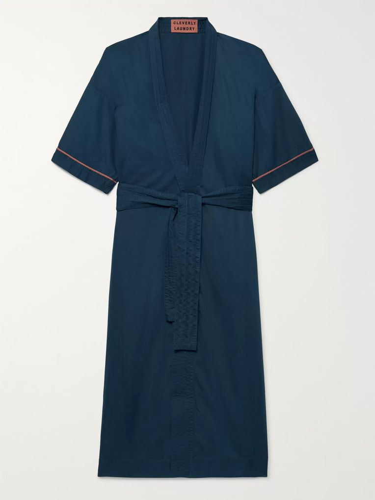 Cleverly Laundry Piped Washed-Cotton Robe