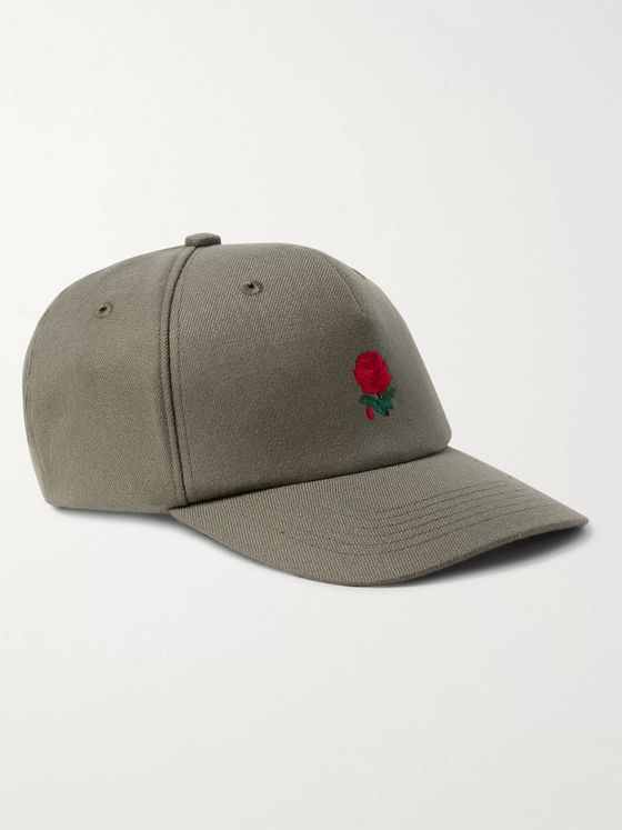Undercover Embroidered Wool-Blend Twill Baseball Cap