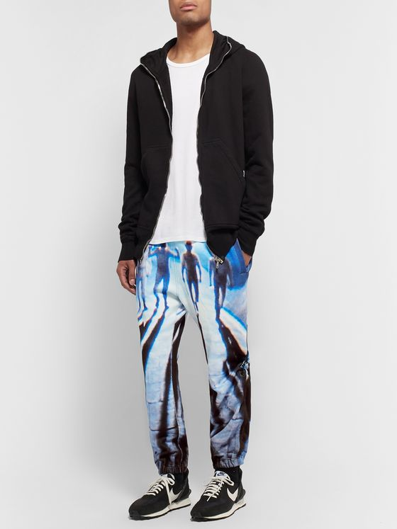 Undercover Tapered Printed Loopback Cotton-Jersey Sweatpants