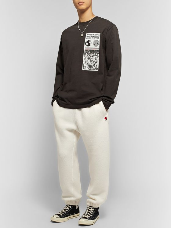 Undercover Nylon-Panelled Embroidered Polartec Fleece Sweatpants