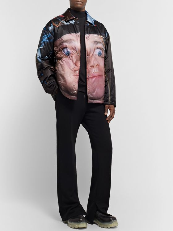 Undercover Printed Quilted Nylon Jacket