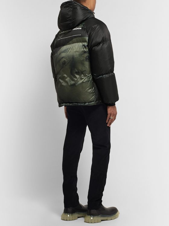 Undercover Printed Quilted Shell Hooded Down Jacket