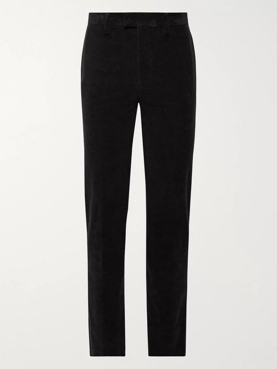 Undercover Black Cotton-Blend Corduroy Trousers