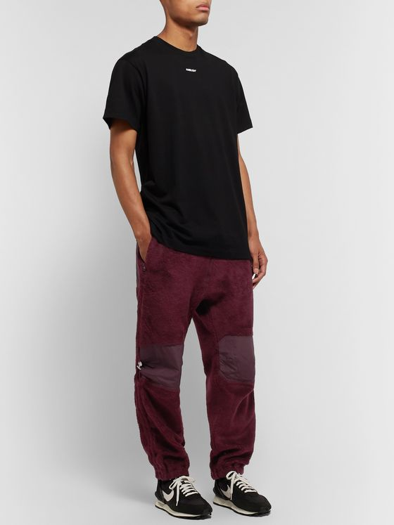 Undercover Nylon-Panelled Fleece Drawstring Trousers