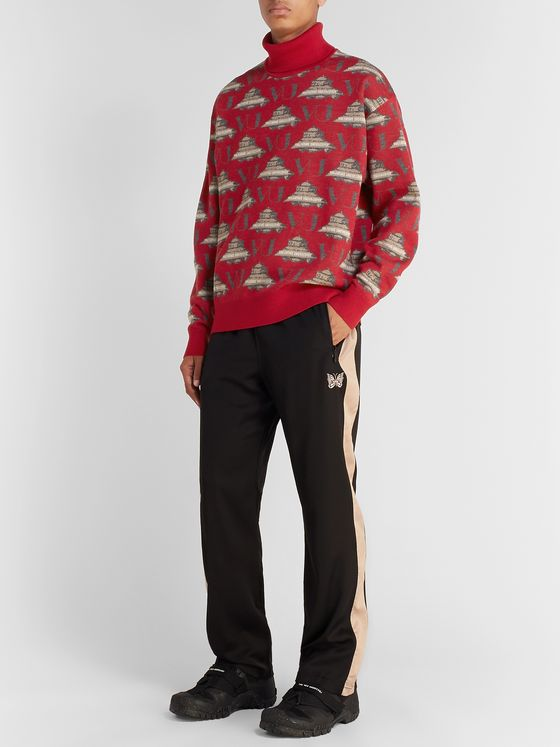 Undercover + Valentino Wool-Jacquard Rollneck Sweater