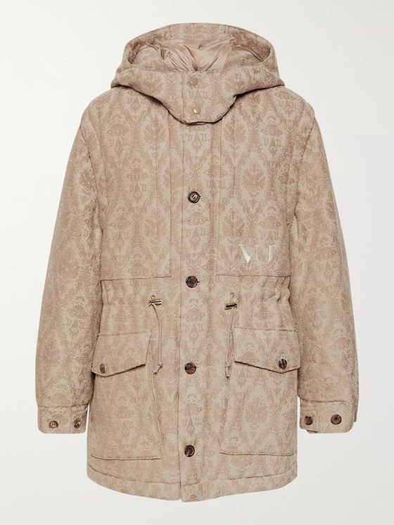 Undercover + Valentino Jacquard Hooded Parka