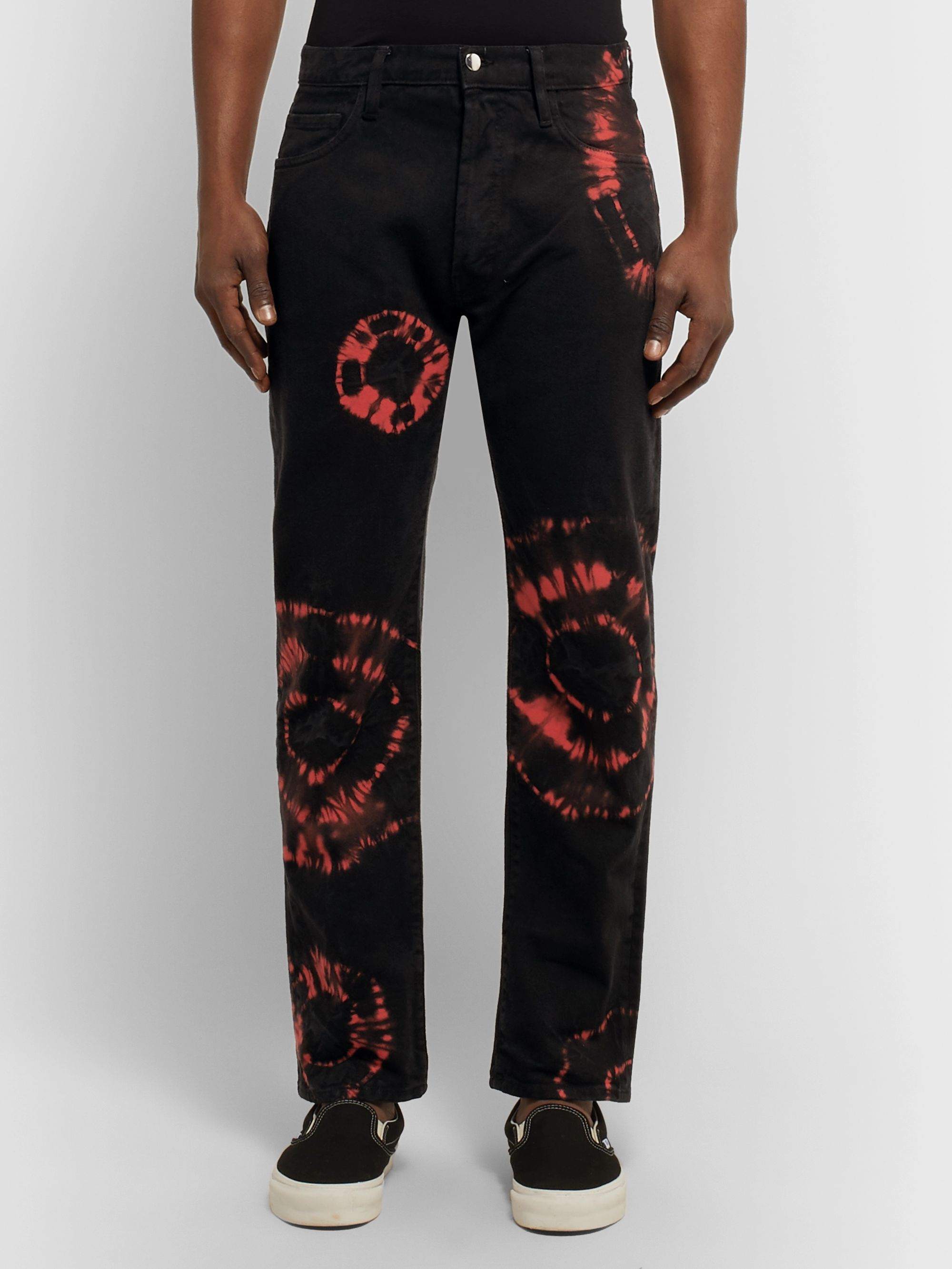 Aries Slim-Fit Tie-Dyed Denim Jeans