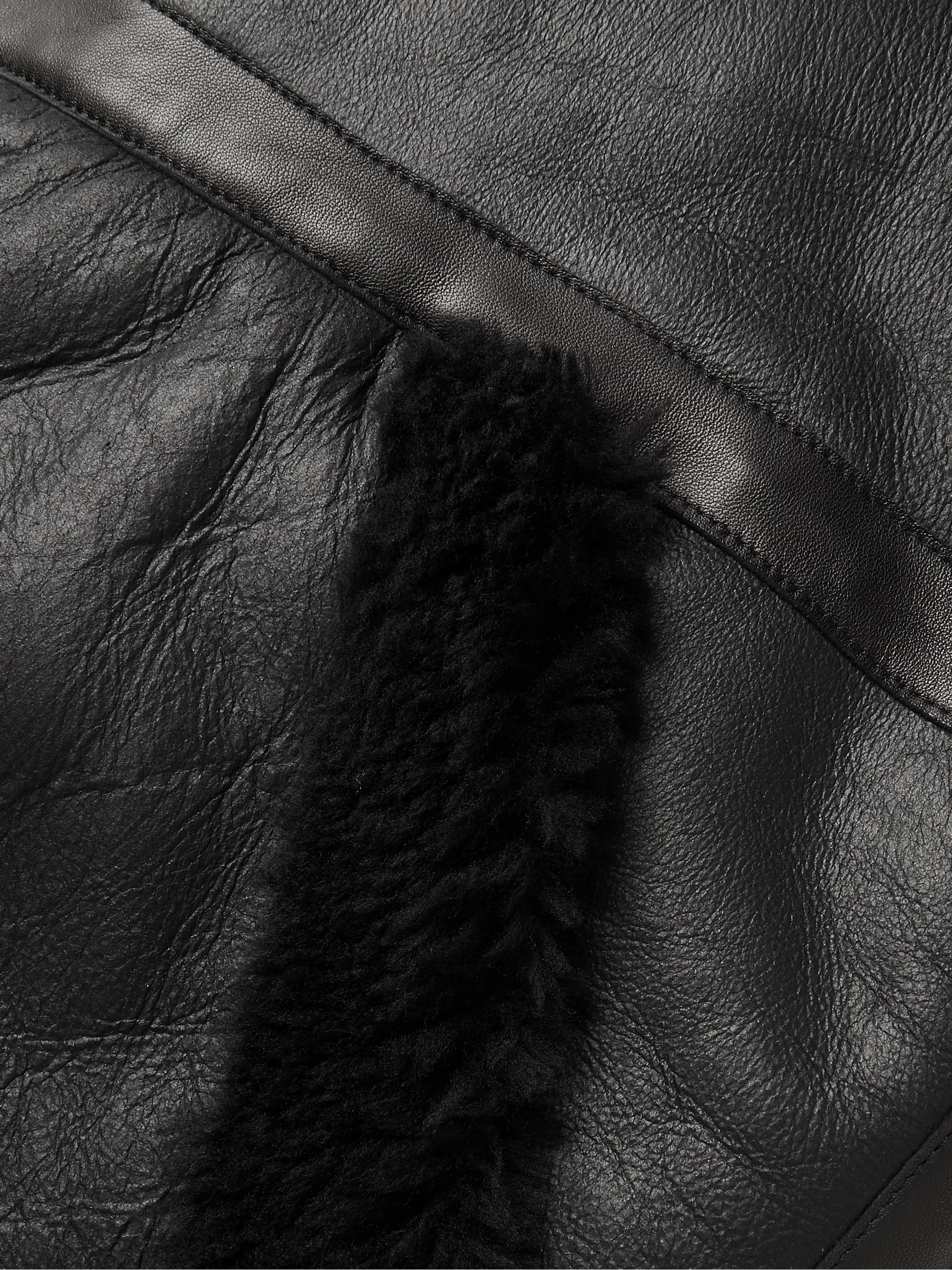 Aries Reversible Shearling Hooded Jacket