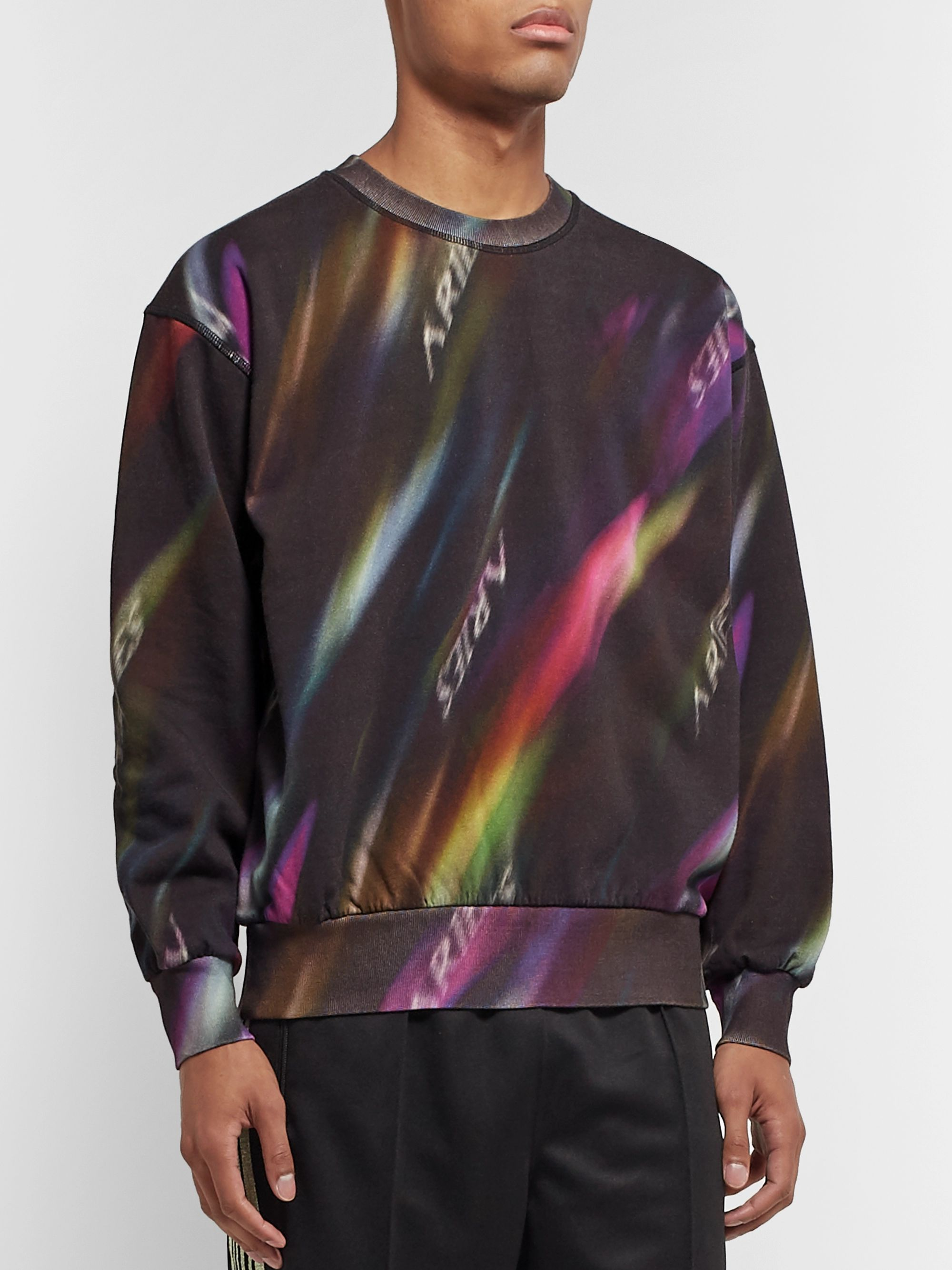 Aries Printed Fleece-Back Cotton-Jersey Sweatshirt