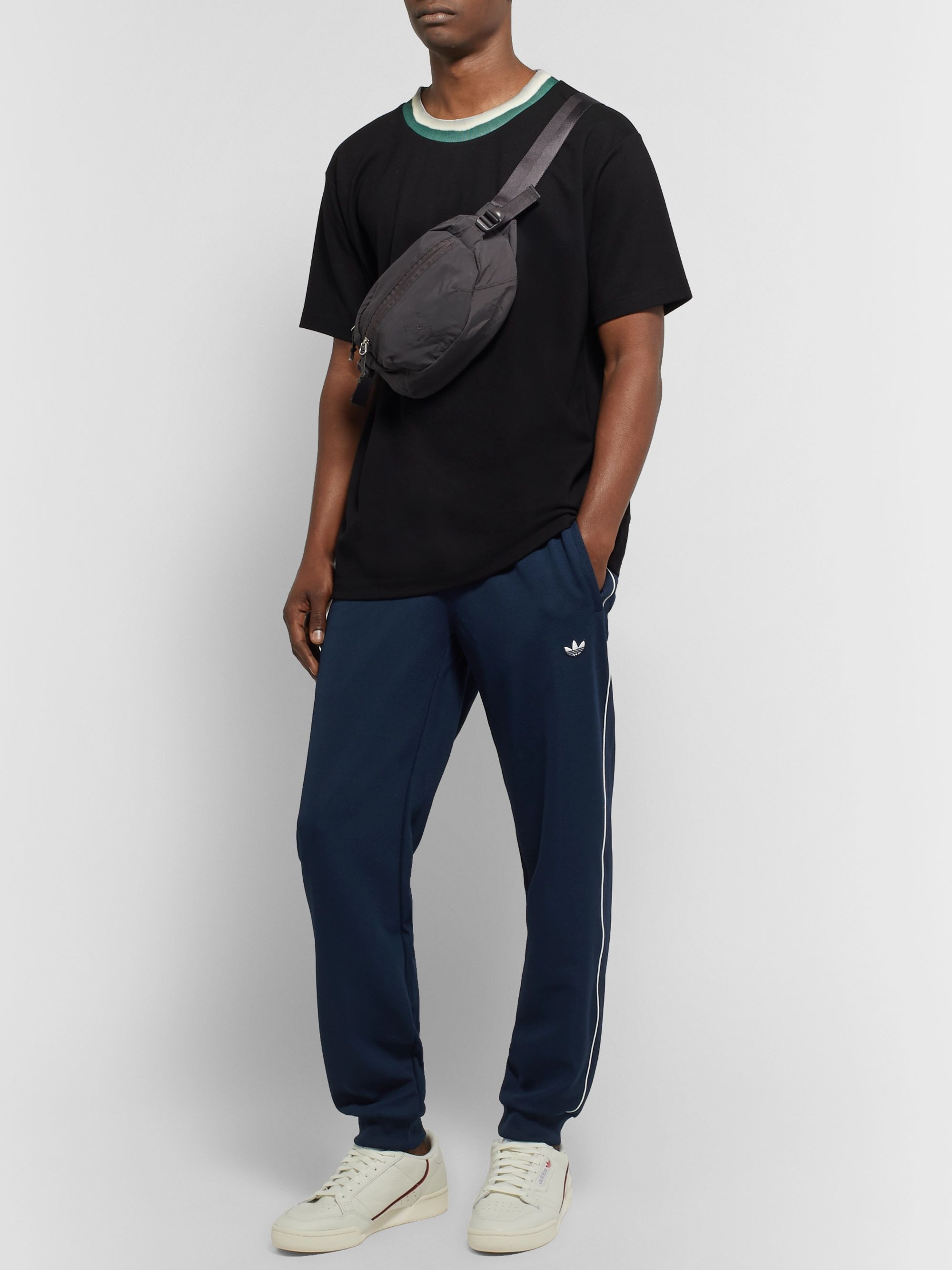 Samstag Piped Stretch Knit Track Pants