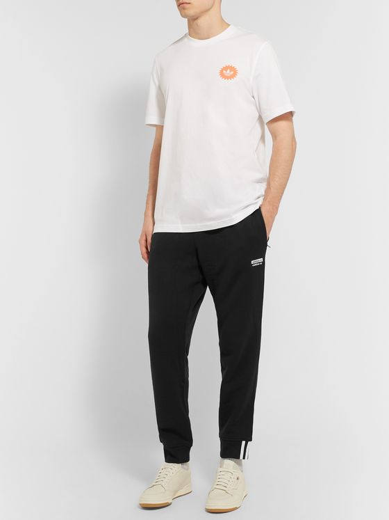 adidas Originals Tapered Logo-Appliquéd French Cotton-Terry Sweatpants