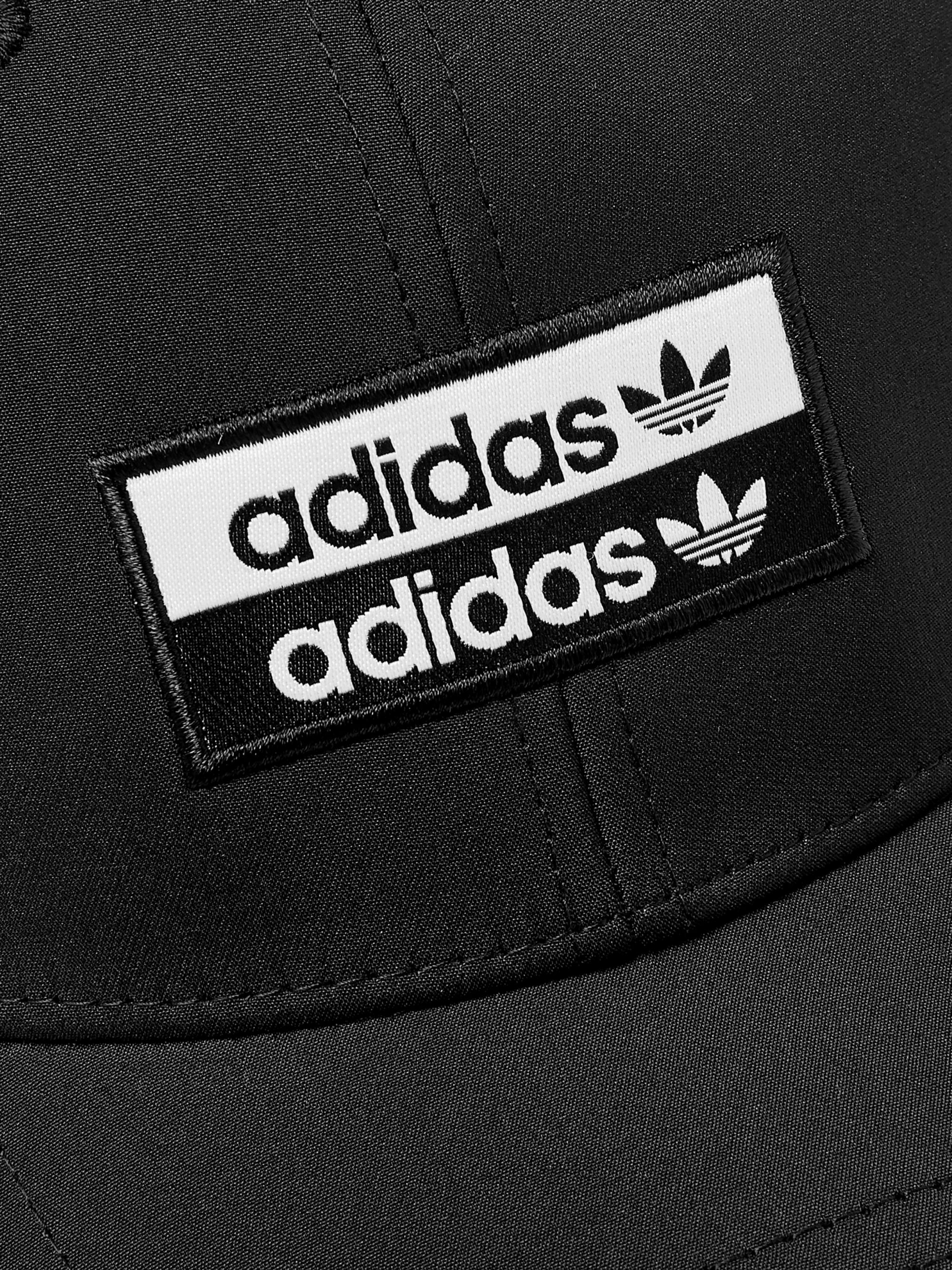 adidas Originals Logo-Appliquéd Matte-Shell Baseball Cap