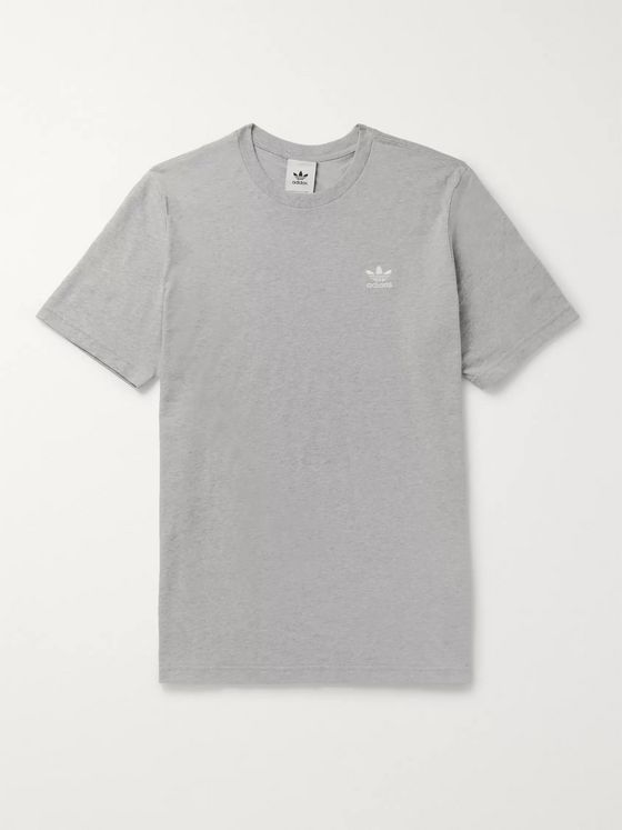 adidas Originals Trefoil Essentials Mélange Cotton-Jersey T-Shirt