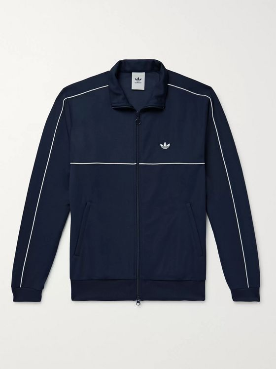adidas Originals Samstag Piped Stretch-Knit Track Jacket