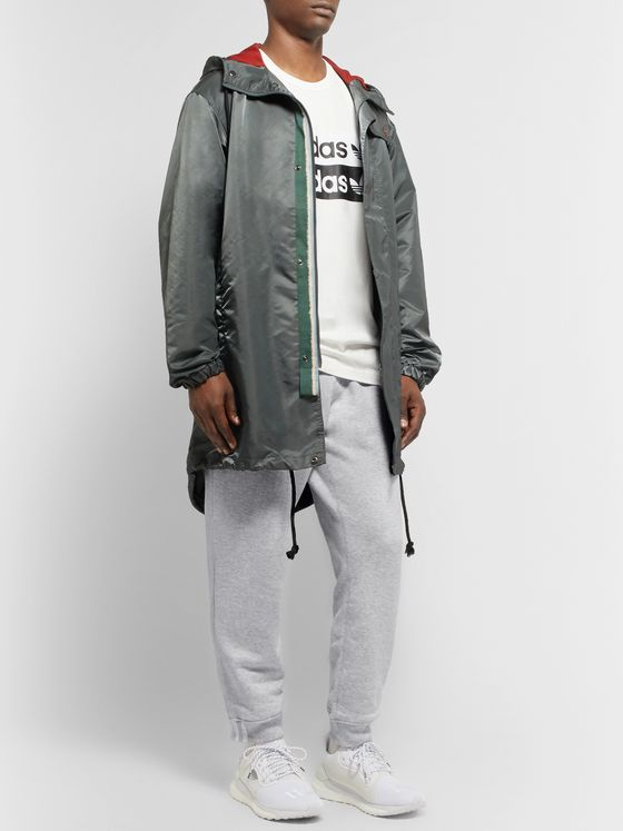 adidas Originals R.Y.V. Tapered Logo-Appliquéd Mélange Loopback Cotton-Jersey Sweatpants