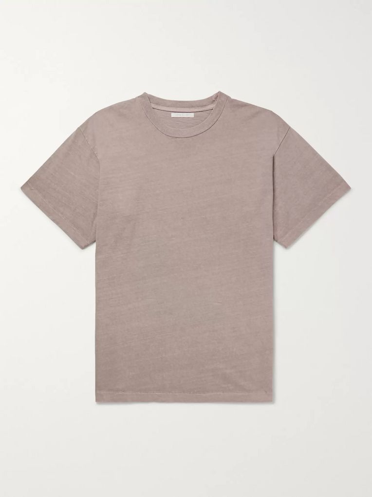 John Elliott University Oversized Slub Cotton-Jersey T-Shirt