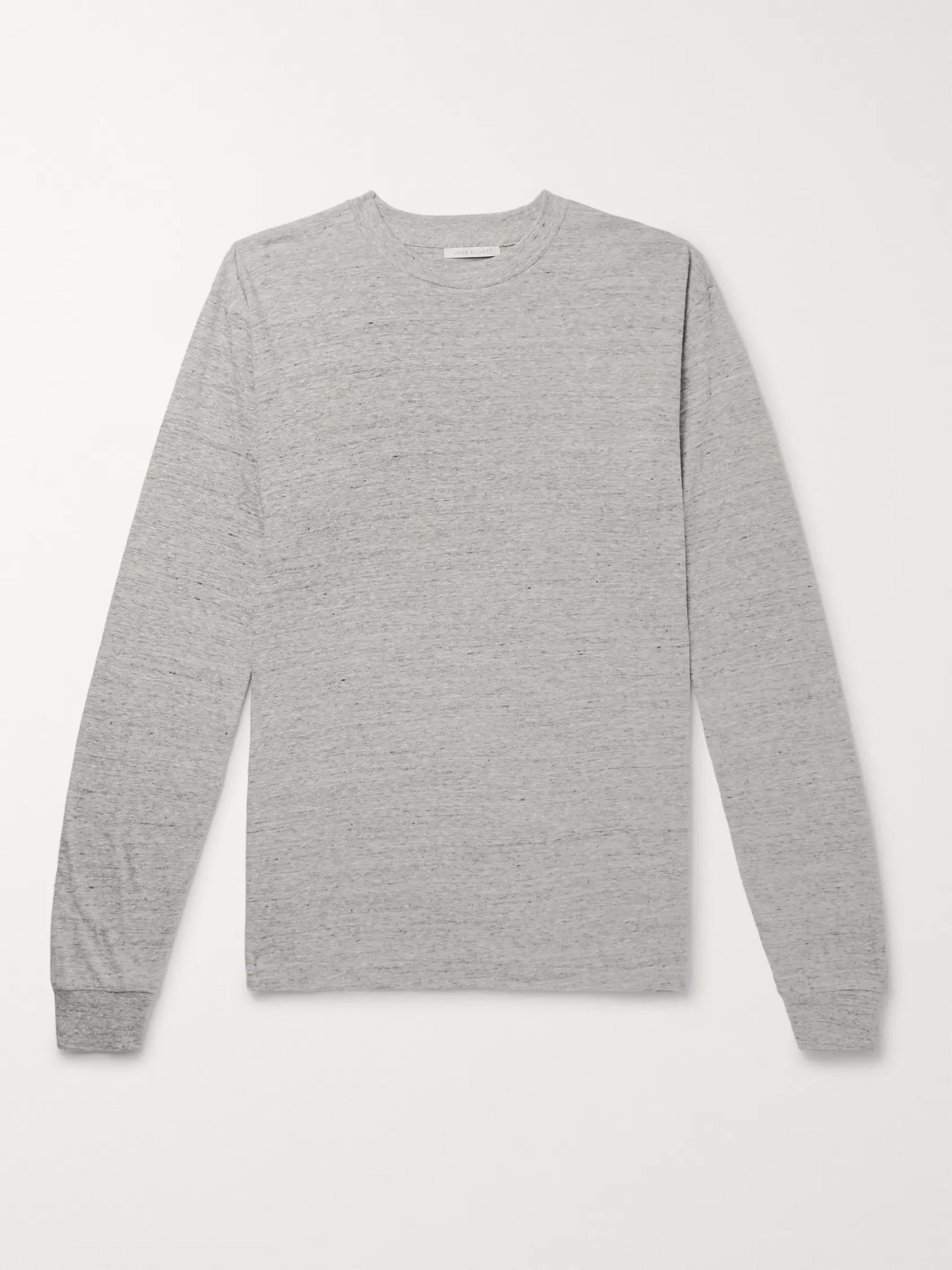 John Elliott University Oversized Mélange Cotton-Blend Jersey T-shirt