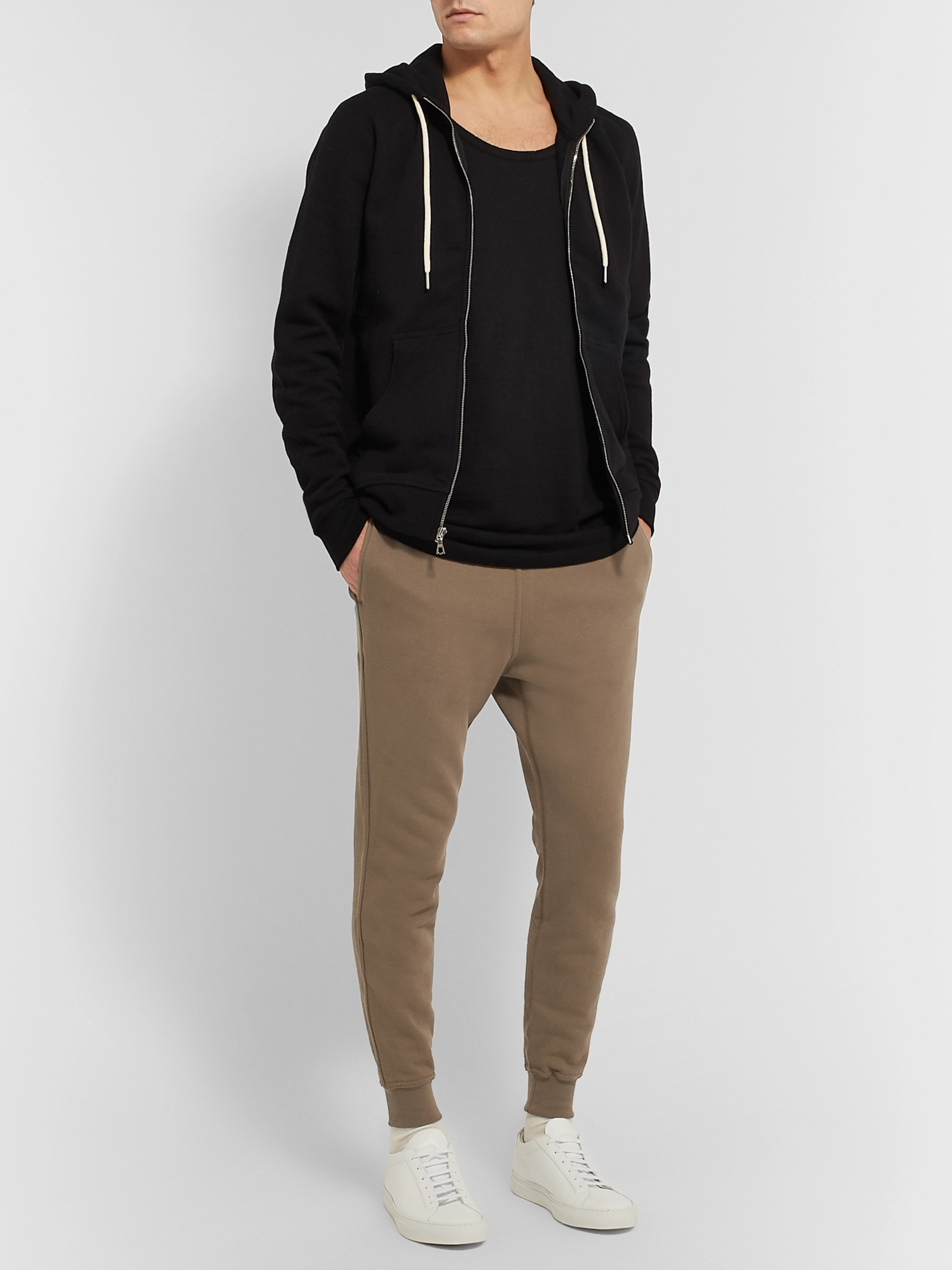 John Elliott Ebisu Slim-Fit Tapered Loopback Cotton-Jersey Sweatpants