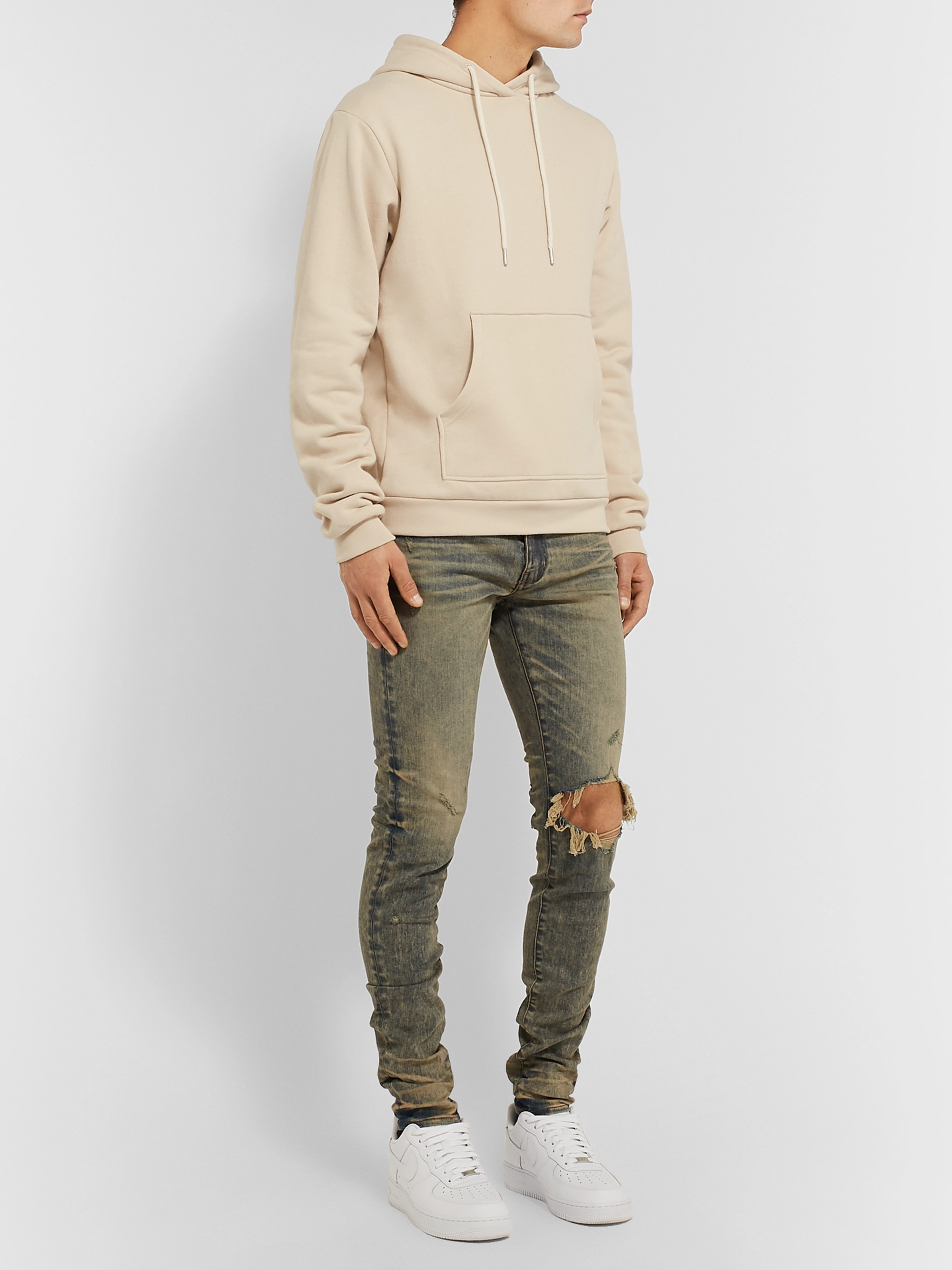 John Elliott Beach Loopback Cotton-Jersey Hoodie