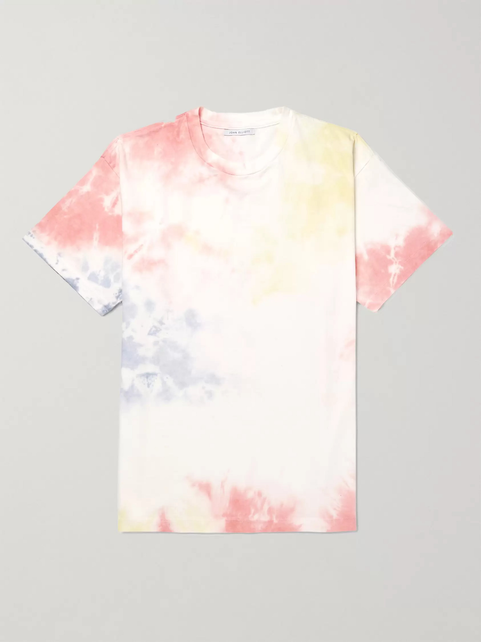 John Elliott University Oversized Tie-Dyed Cotton-Jersey T-Shirt