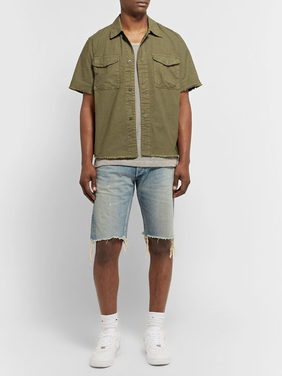 John Elliott Inca Distressed Cotton Shirt