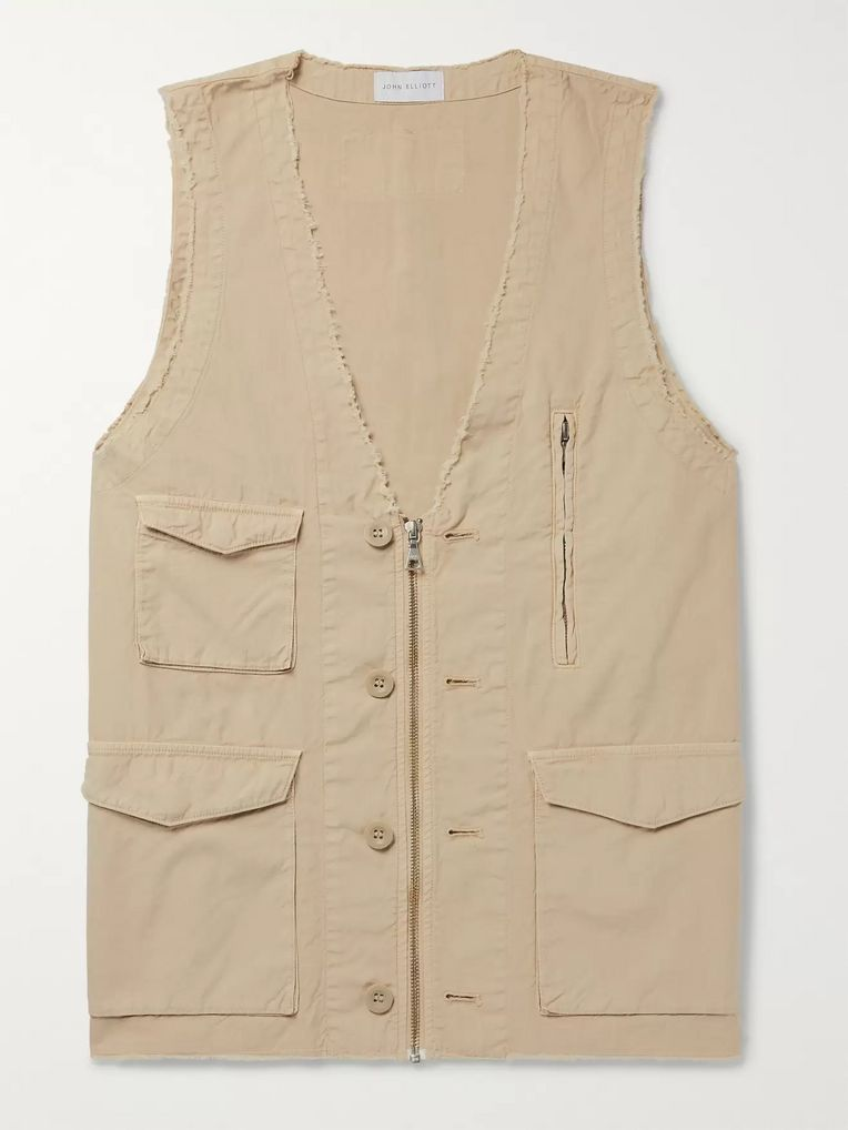 John Elliott Inca Distressed Cotton Gilet