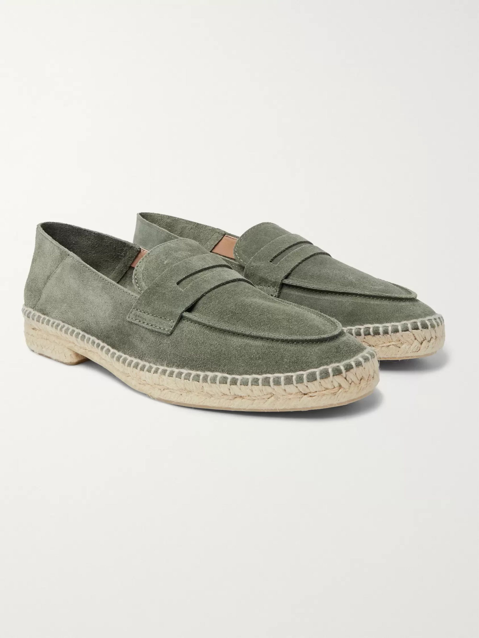 Nacho Collapsible Heel Suede Loafer Espadrilles by Castañer