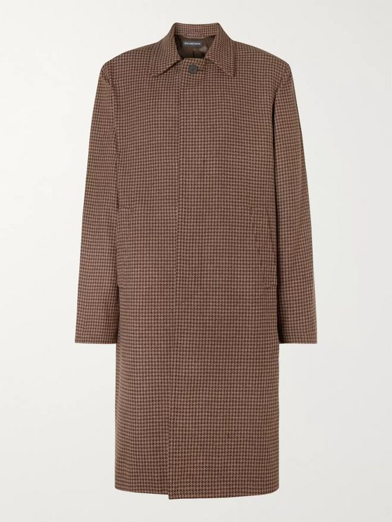 Balenciaga Houndstooth Virgin Wool Coat