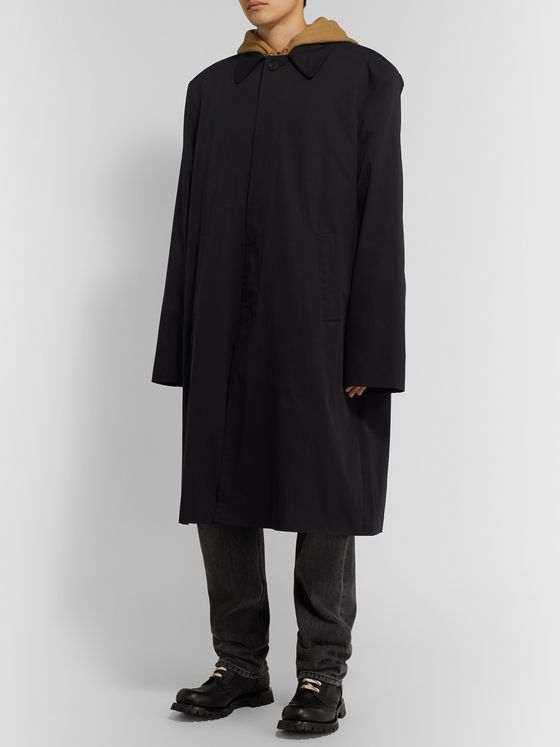 Balenciaga Oversized Cotton-Twill Coat