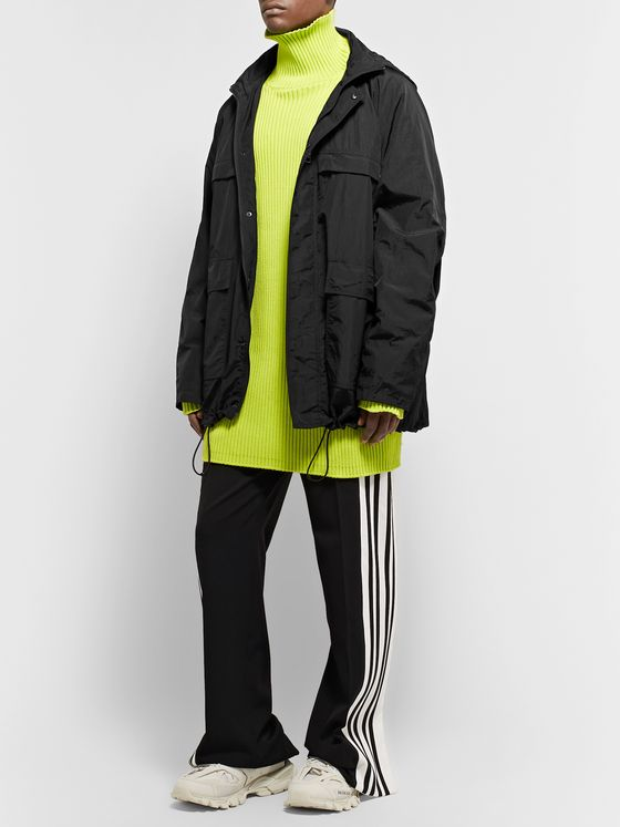 BALENCIAGA Oversized Logo-Appliquéd Shell Jacket