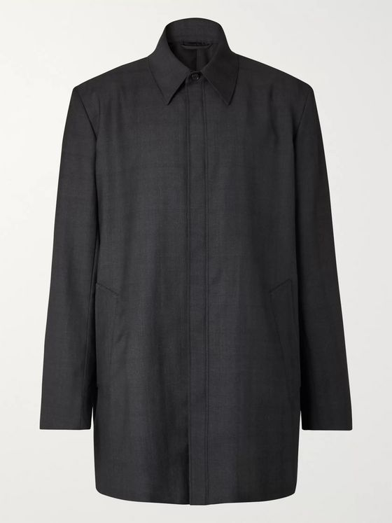 Balenciaga Oversized Prince of Wales Checked Virgin Wool Overshirt