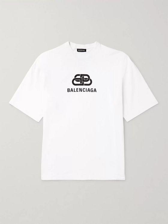 Logo Print Cotton Jersey T Shirt
