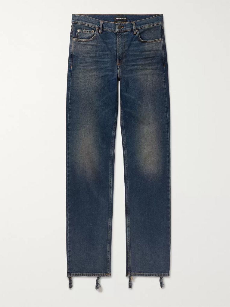 Balenciaga Skinny-Fit Distressed Denim Jeans