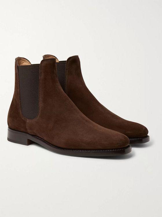 Ralph Lauren Purple Label Suede Chelsea Boots