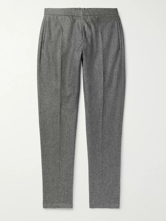 SALLE PRIVÉE Seph Slim-Fit Virgin Wool-Flannel Trousers