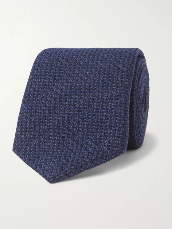 Richard James 7cm Puppytooth Wool and Silk-Blend Tie