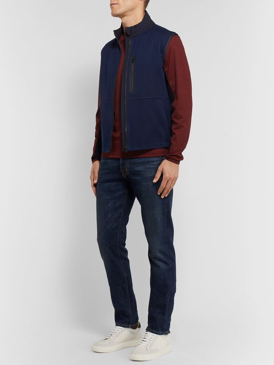 Sease V-12 Shell and Grosgrain-Trimmed Cashmere Gilet