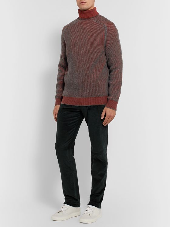 Sease Dinghy Reversible Ribbed Cashmere Rollneck Sweater