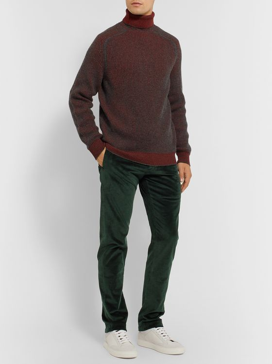 Sease Slim-Fit Cotton-Blend Corduroy Trousers