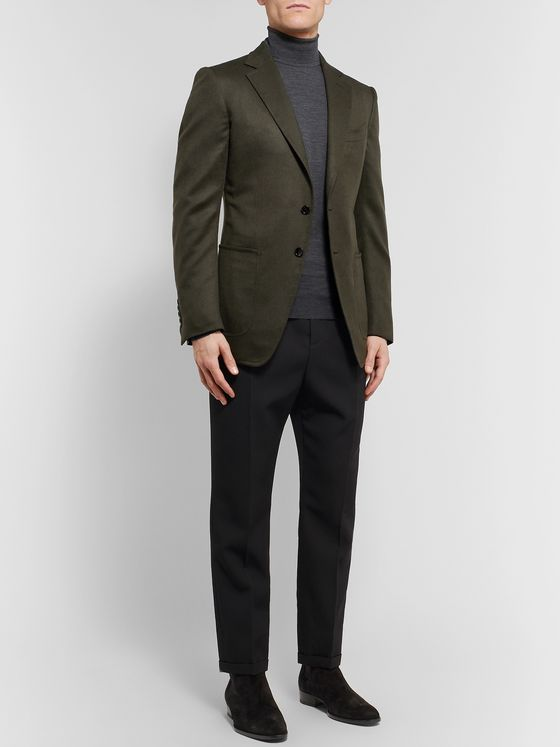 TOM FORD Green O'Connor Slim-Fit Cashmere Blazer