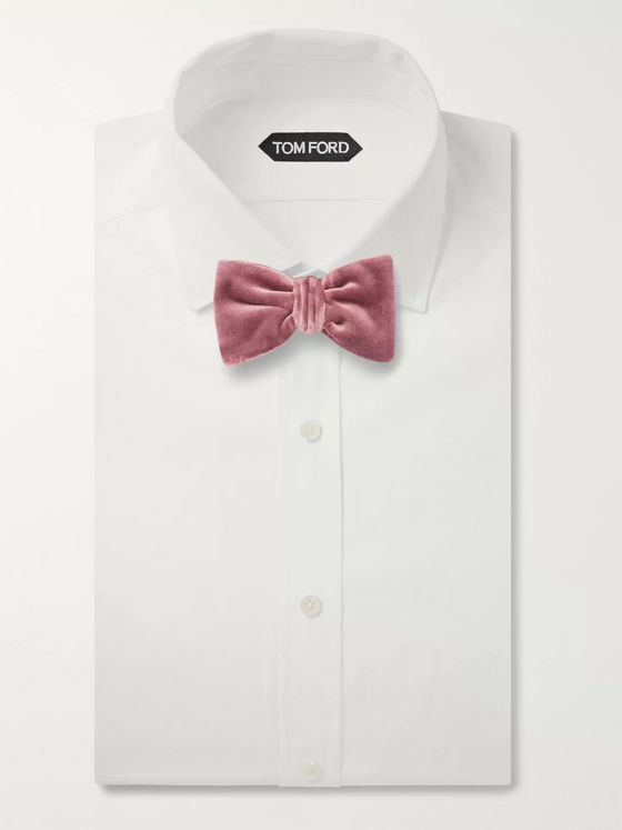 Brioni Pre-Tied Cotton and Silk-Blend Velvet Bow Tie