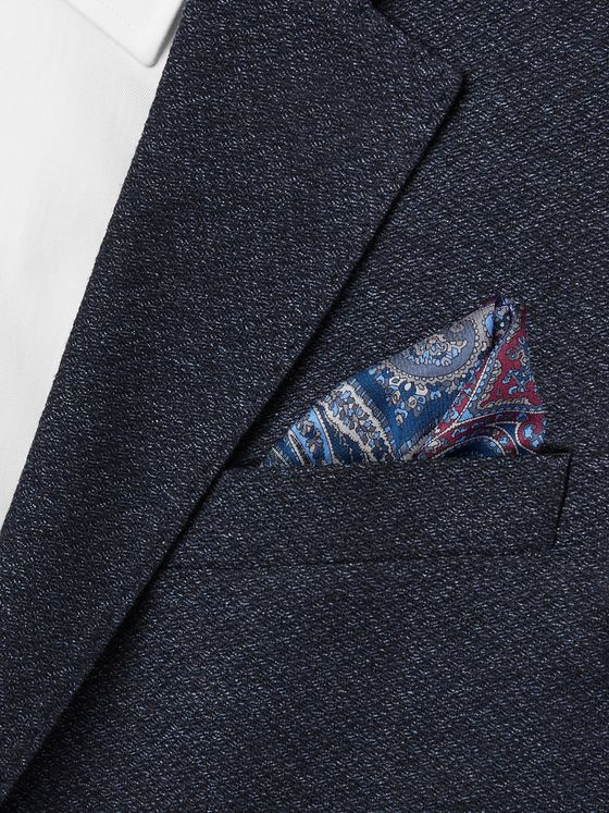 Brioni Polka-Dot Wool and Silk-Blend Twill Pocket Square