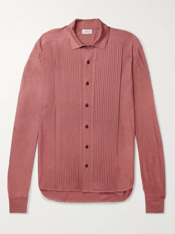 Brioni Slim-Fit Ribbed Silk Cardigan