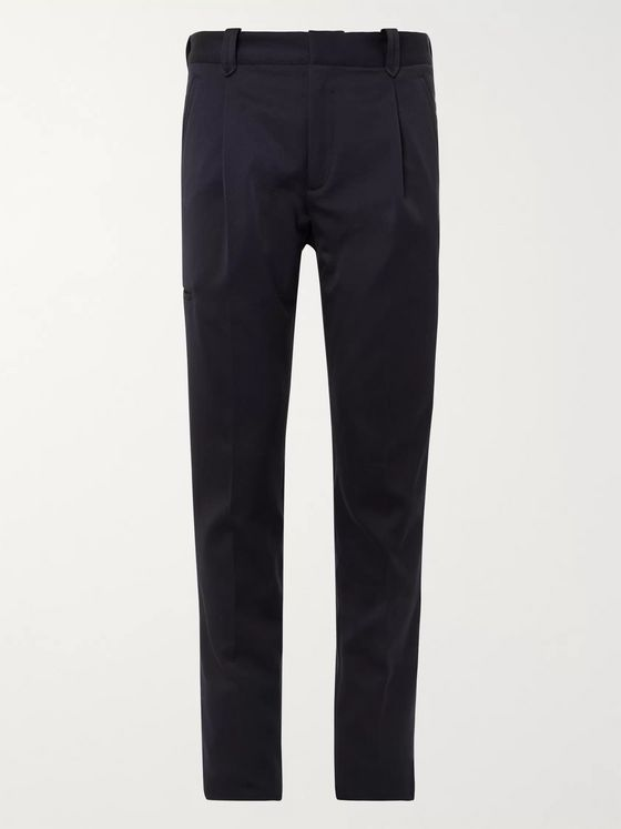 Brioni Slim-Fit Tapered Pleated Twill Cargo Trousers