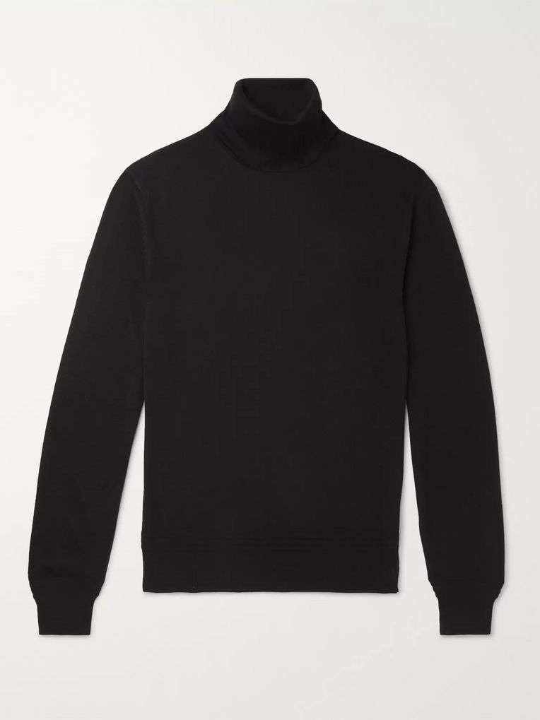 TOM FORD Cashmere and Silk-Blend Rollneck Sweater