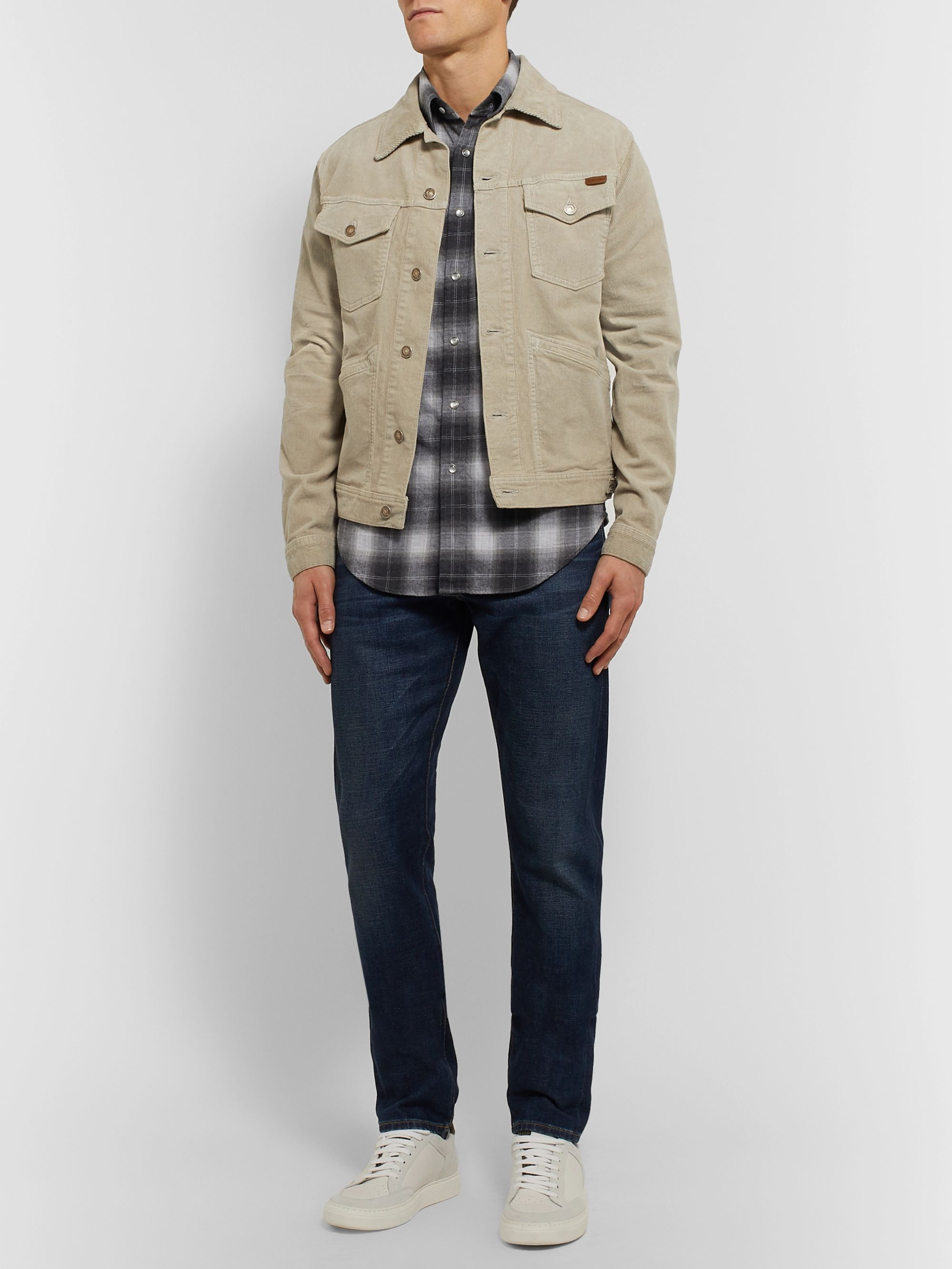 TOM FORD Mickey Slim-Fit Checked Cotton-Flannel Western Shirt