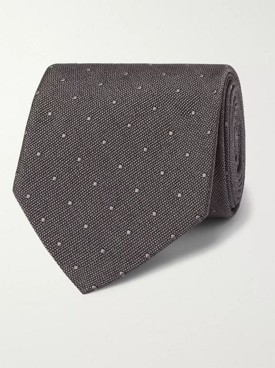 TOM FORD 8cm Polka-Dot Silk Tie