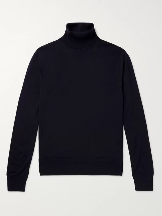 TOM FORD Mélange Wool Rollneck Sweater