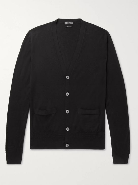 TOM FORD Cashmere and Silk-Blend Cardigan